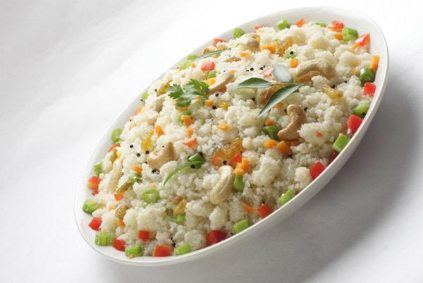Low Calorie Breakfast - broken wheat upma