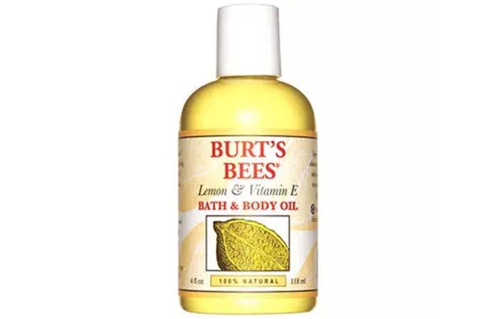 Burts Bees Lemon Vitamin E Bath And Body Oil