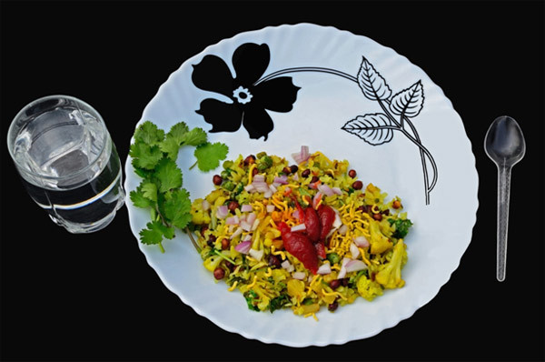 Low Calorie Breakfast - corn poha