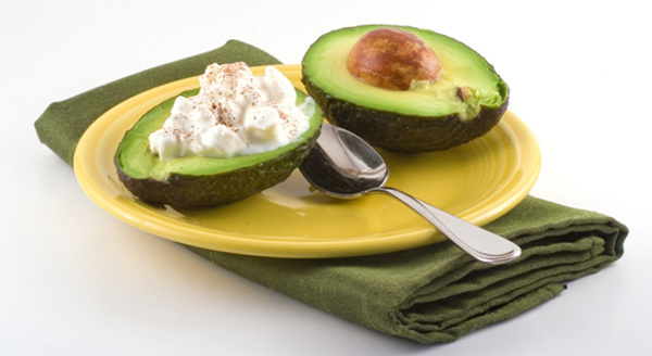 cottage cheese filled avocado