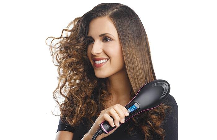 FINIVIVA Simply Ceramic Hair Straightening Comb Brush