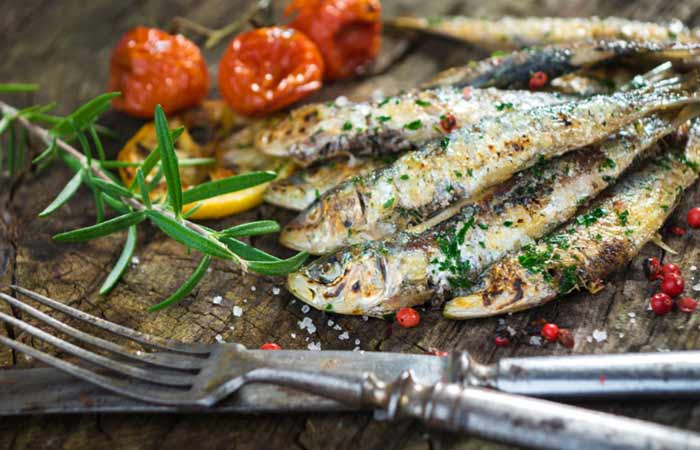 Osteopenia Diet Recipe - Grilled Sardines With Veggies