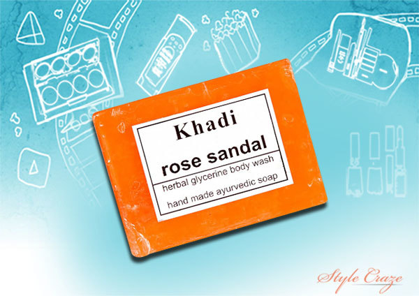 khadi rose sandal soap