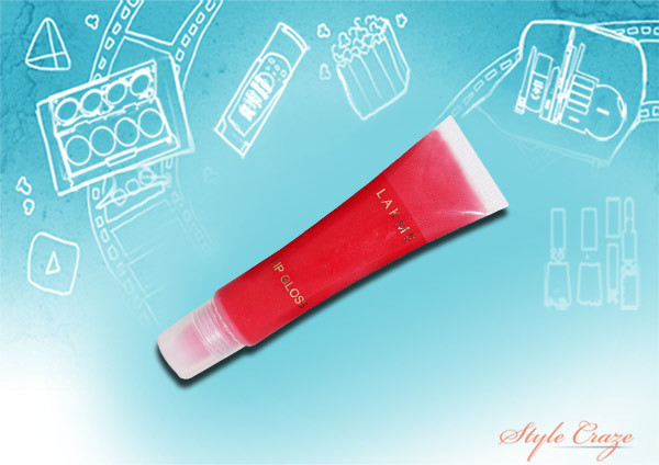 lakme lip gloss in strawberry