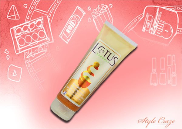lotus herbals orange peel and alpine salt whitening skin polisher
