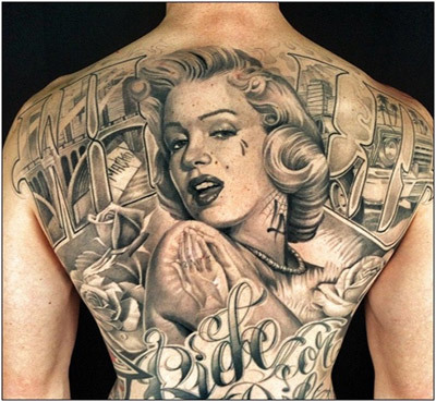 Marilyn Monroe tattoo is a classic