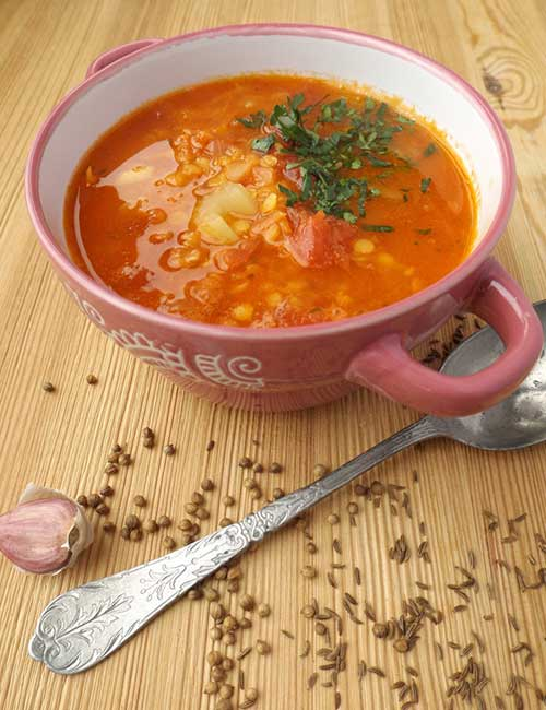 Boiled Egg Diet Plan - Mixed Lentil Soup Dinner