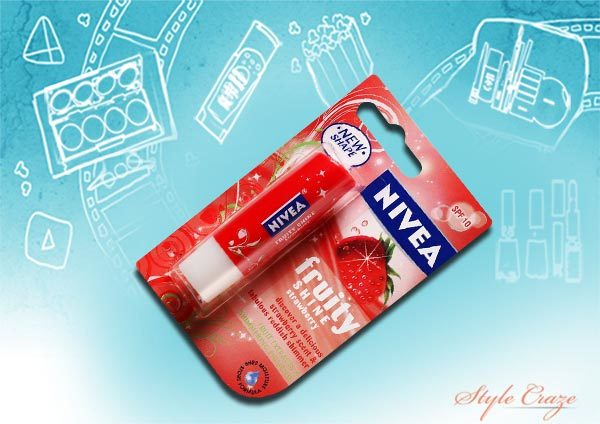 nivea lipcare fruity shine strawberry