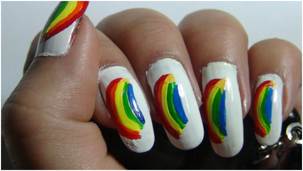 Rainbow Nail Art Tutorials 6