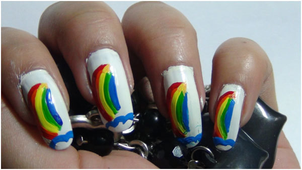 Rainbow Nail Art Tutorials 7