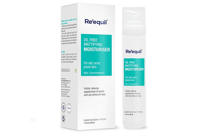 Re'equil Oil-Free Mattifying Moisturiser - Water-Based Moisturizers For Oily Skin