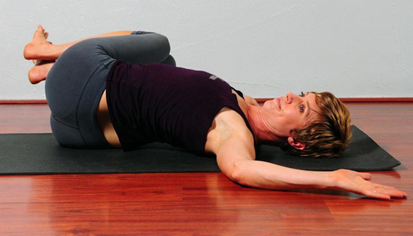 sleeping spinal twist pose