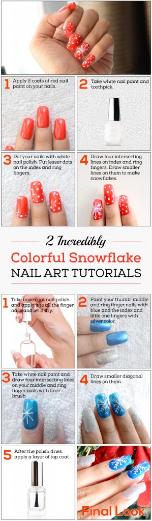 Snowflake Nail Art Tutorials