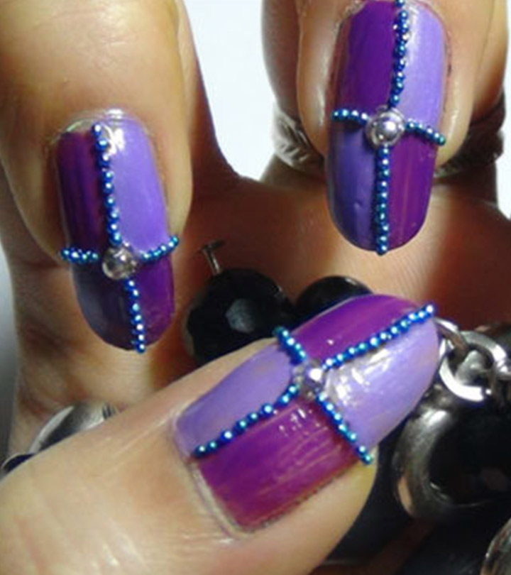 2 Stunning Purple Nail Art Design Tutorials – With Detailed Steps And  Pictures - 2 Amazing Purple Nail Art Design Tutorials With Pictures