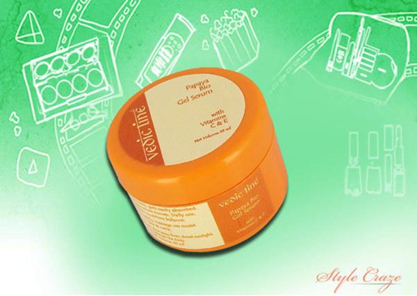 vedic line papaya bio gel serum