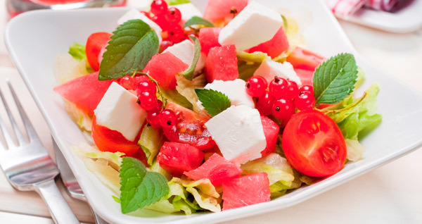 Watermelon and Tomato Chaat Salad