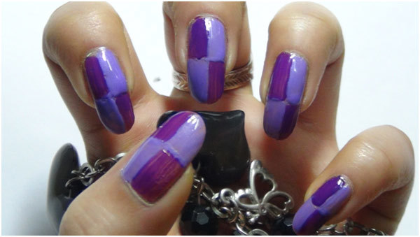 Trendy Duo-Tone Purple Nail Art Tutorial - Step 3: Apply Light Purple Nail Polish