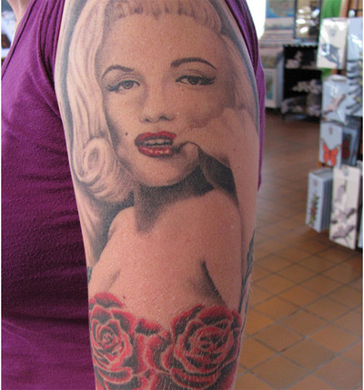 tattoo depicts Marilyn