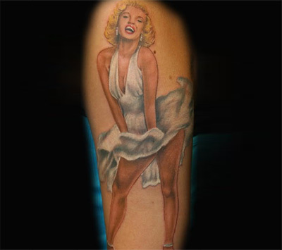 tattoo of Marilyn wearing