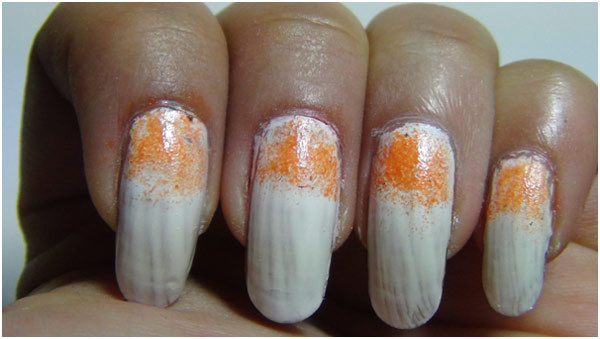 2 amazing sponge nail art design tutorials with detailed steps white nail polish prinsesfo Image collections