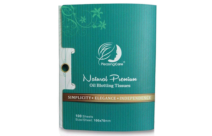 1.-PleasingCare-Natural-Premium-Oil-Blotting-Sheets - Blotting Papers For Oily Skin