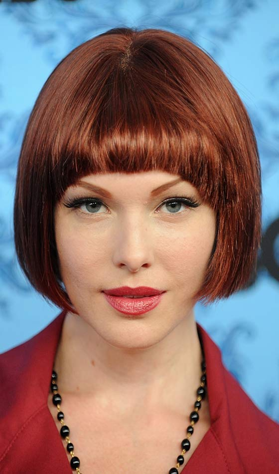 Red Smooth bob hairstyle