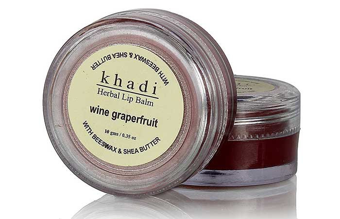 Khadi Natural Wine Grapefruit Lip Balm