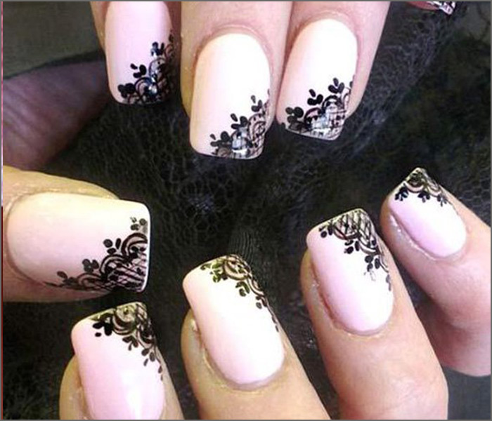Lacy Pinks - Light Pink Nail Art