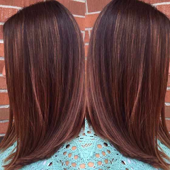 Top 30 chocolate brown hair color ideas copper highlights pmusecretfo Image collections