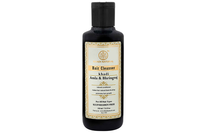 2. Khadi Natural Amla & Bhringraj Hair Cleanser
