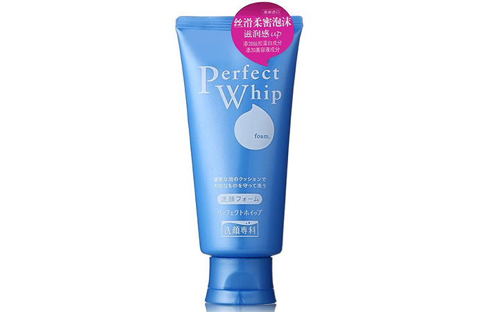 2. Shiseido Perfect Whip Face Wash
