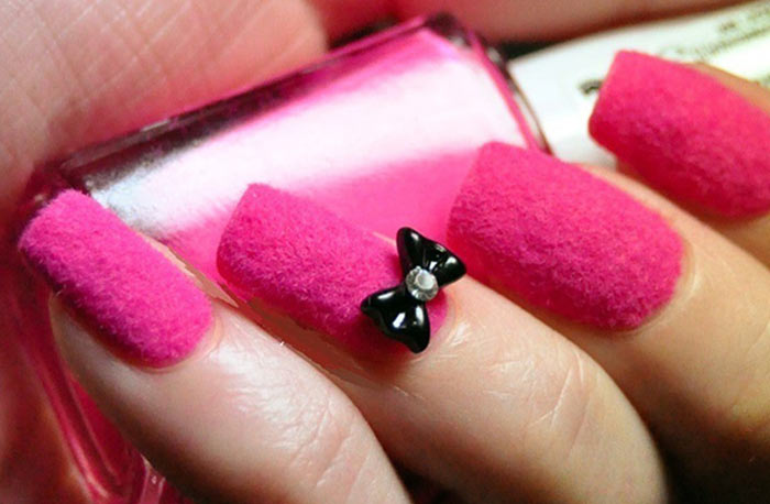 30 cute pink nail art design tutorials with pictures pink velvet acrylic nail art prinsesfo Gallery