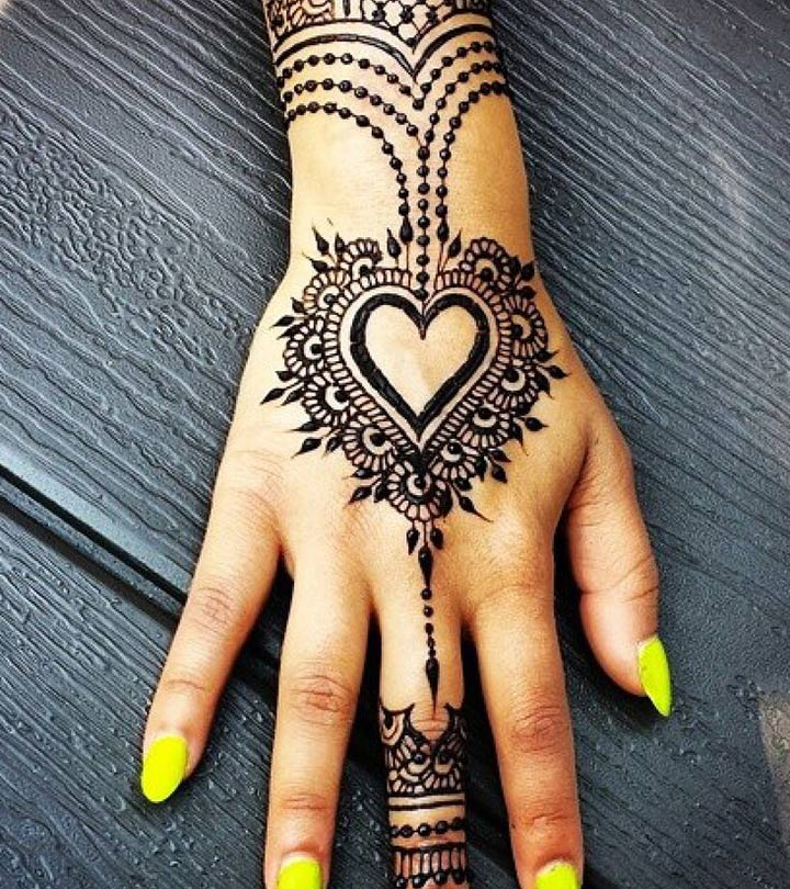 2d60405a1 10 Most Loved Heart Henna Designs To Try In 2019