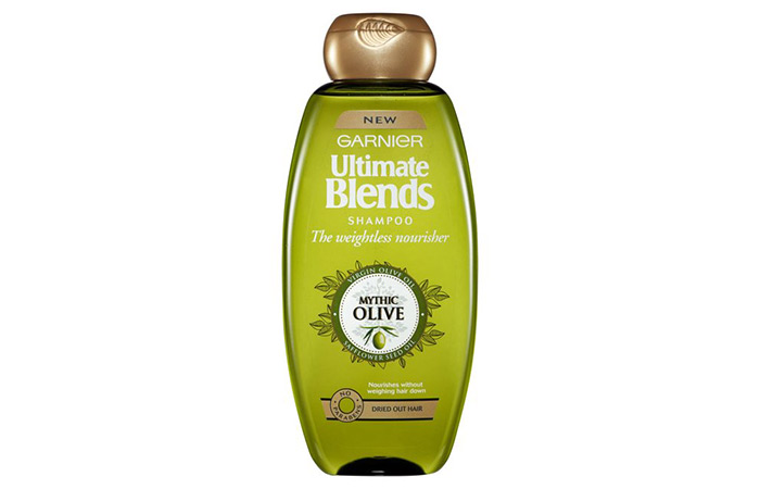 3. Garnier Ultra Blends Mythic Olive Deep Nourishing Shampoo