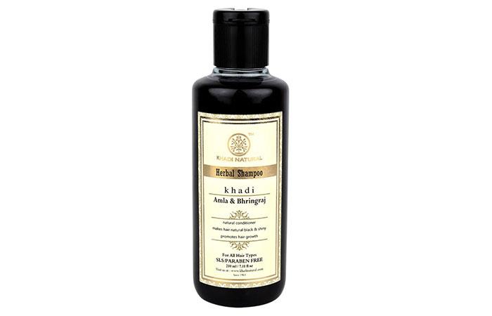 3. Khadi Amla And Bhringraj Shampoo