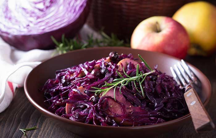 Glutamine Rich Foods - Red-Cabbage