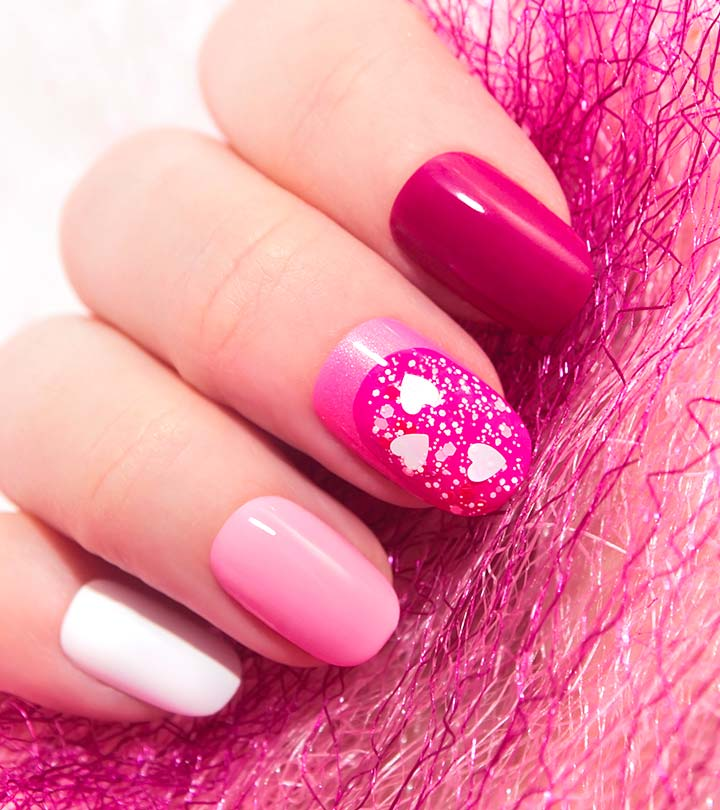 30 Pretty Pink Nail Art Designs With Tutorials Avipsha Sengupta Stylecraze