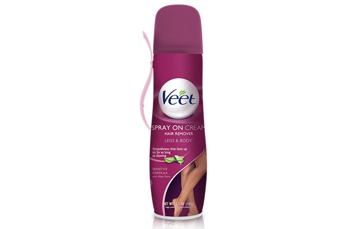 4. Veet Spray On Cream Hair Remover