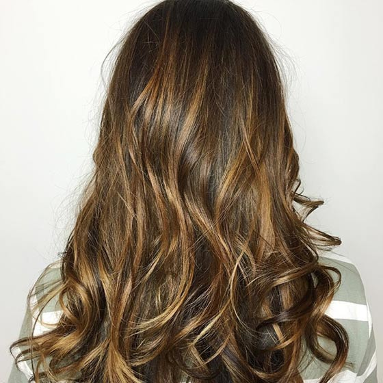 Add Some Excitement To Brown Hair With Highlights