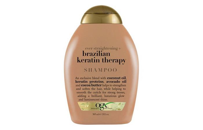 5.OGX Brazilian Keratin Therapy Shampoo