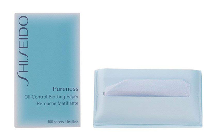 6.-Shiseido-Pureness-Oil-Control-Blotting-Paper - Blotting Papers For Oily Skin