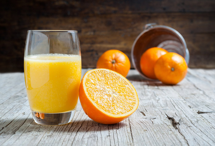 8. Orange Juice For Ulcers