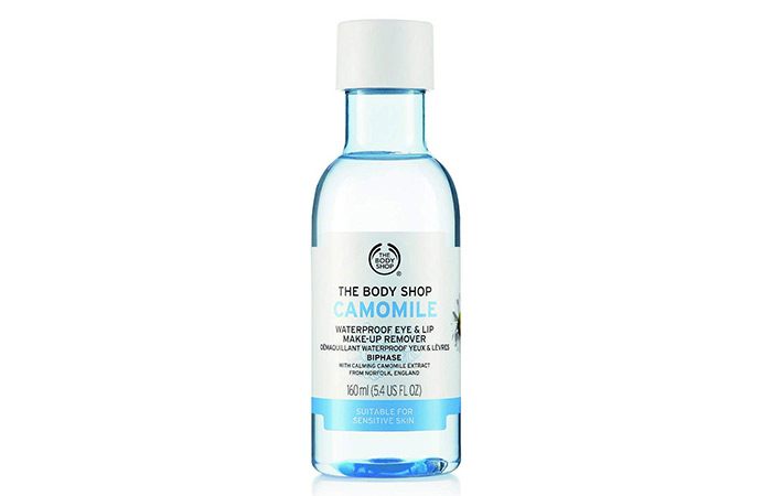 The Body Shop Camomile Waterproof Eye And Lip Makeup Remover - Best Eye Makeup Removers