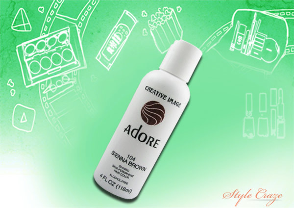 adore semi permanent hair color 104 sienna brown