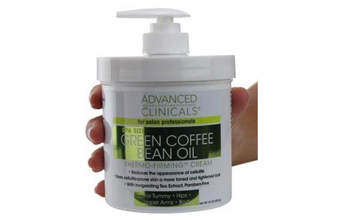 Advanced Clinicals Green Coffee Bean Oil Thermo-Firming Cream