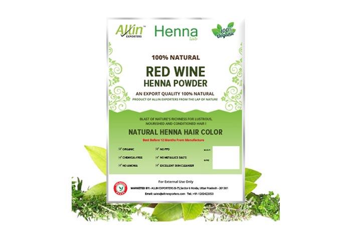 Allin Exporters Red Wine Henna Powder
