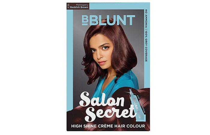 BBlunt Salon Secret High Shine Creme Hair Color – 4.56 Reddish Brown Mahogany