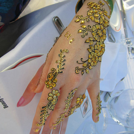 beaded mehndi stickers