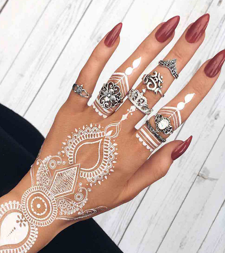 Top 10 Beautiful White Henna Designs For You To Try In 2019