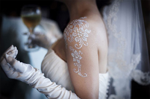 beautiful white henna designs one